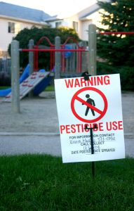 Pesticide use warning